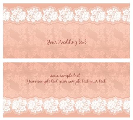 Wedding invitation template, design element Stock Vector - 9548587