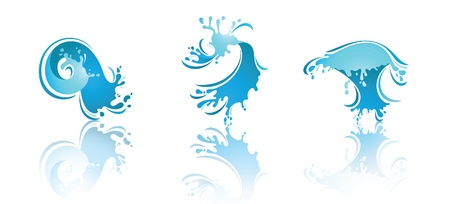 mildew: Splashing Waves and Water with reflection. Second set icons