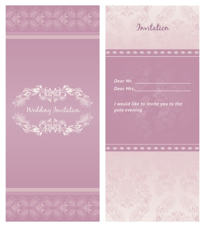 Wedding-invitation, background - template. Can be used for invitations to any of your ceremony. For example a wedding.