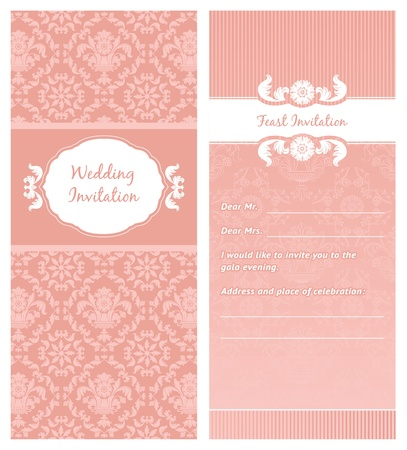 Feast-Invitation, template. Can be used for invitations to any of your ceremony. For example a wedding. Stock Vector - 9666951