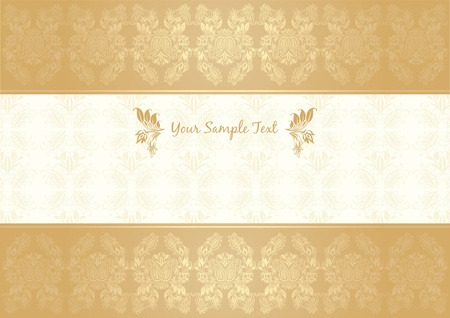 vector decorative frame gold Stock Vector - 9666953