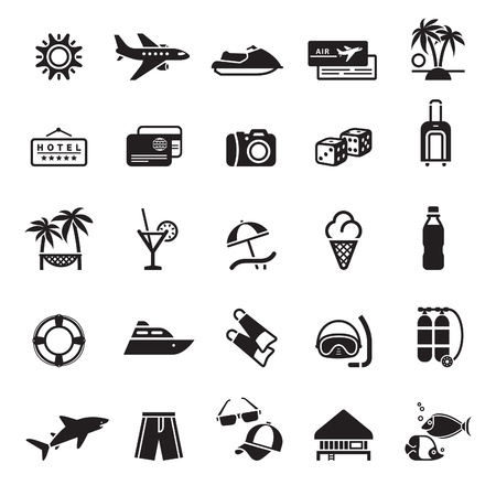 travel icons: Signs. Vacation, Travel  Illustration