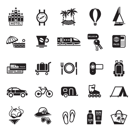 symbol tourism: Signs. Vacation, Travel  Illustration
