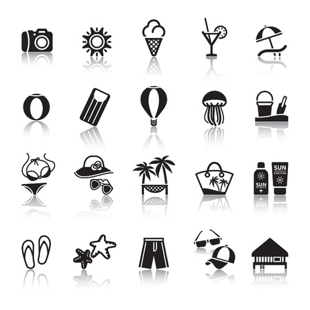 Signs. Tourism. Travel. Sports. Second set Vector