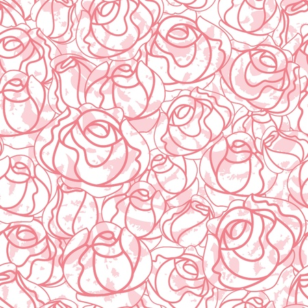 buds: Seamless roses pattern, backdrop
