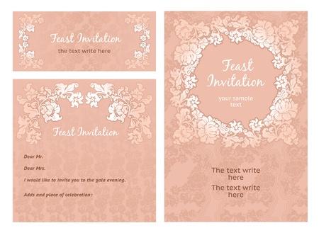 weave: Set of ornamental templates Illustration