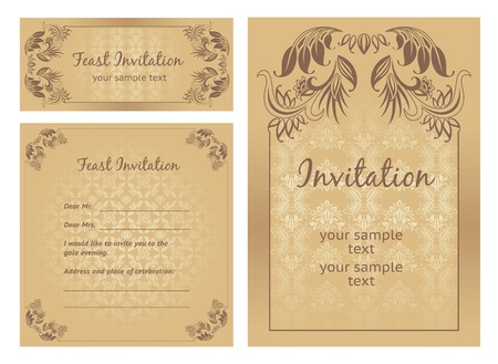 Set of ornate vector template Vector