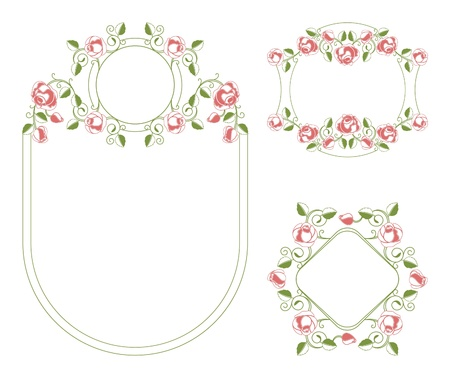 Floral ornaments vignette and frames Stock Vector - 10013866