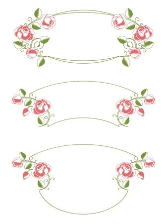 Floral frames and vignette Vector