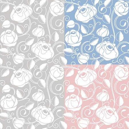 Seamless roses pattern, backdrop, template Vector