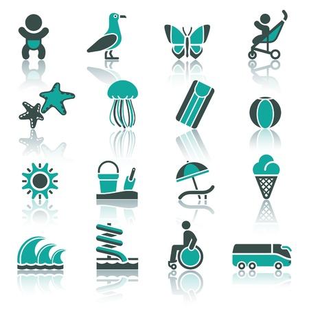water slide: Tourism, Recreation  Illustration