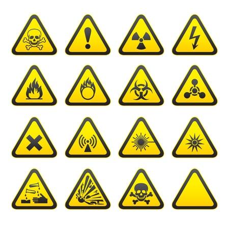 trucizna: Zestawu trójkątne znaki ostrzegające.