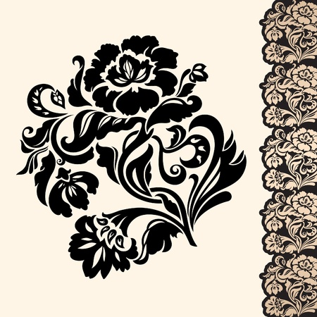 flower and border Stock Vector - 10522468