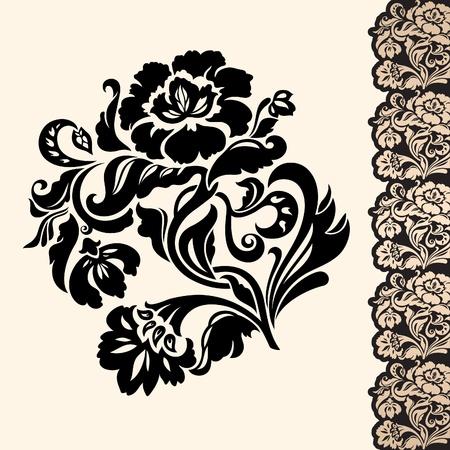 flower and border Illustration