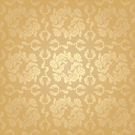 Seamless background flowers, floral - pattern Vector