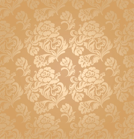 Seamless pattern, ornament floral, background Vector