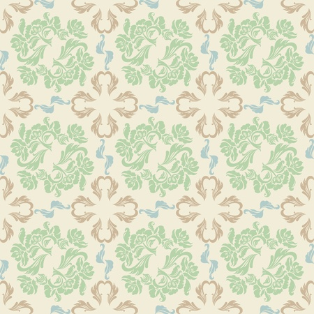 Seamless floral, background pattern, vector Vector