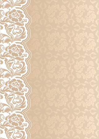 Flower background with lace, seamless template