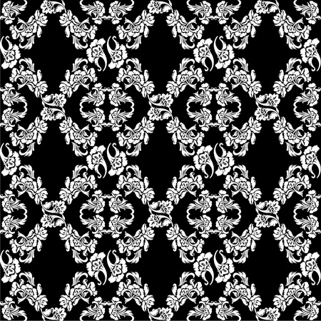 Seamless background flowers, floral pattern