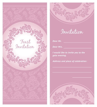 Invitation background, greeting card Vector