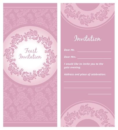detail invitation: Invitation background, greeting card