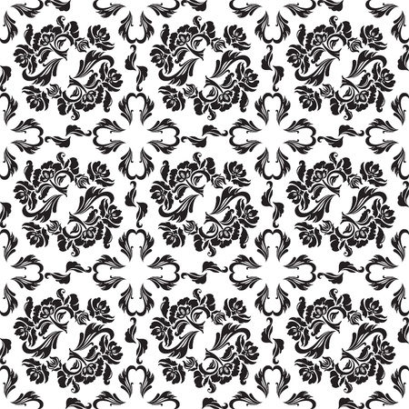 Seamless background flowers, floral - pattern. Vector