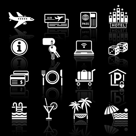 hotel icon: Recreation, Travel