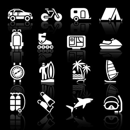 Travel Backpack: Turismo, deporte con reflexi�n. Vector Vectores
