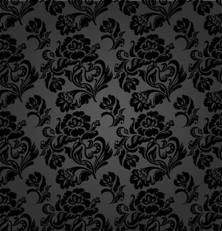 Seamless pattern, curtains floral, vector Vector