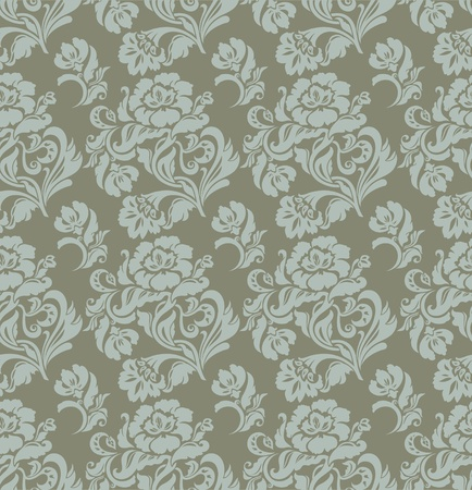 Seamless pattern, ornament floral, curtains, vector Vector