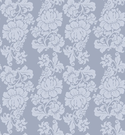 vintage weaving: Seamless pattern, ornament floral, curtains Illustration