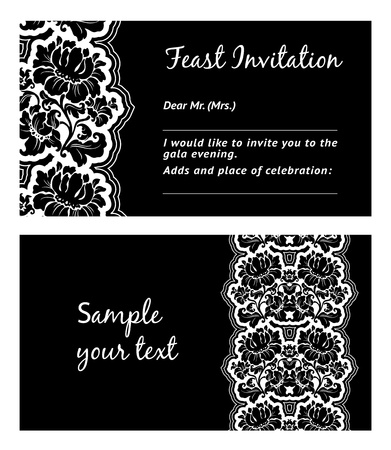 Flower lace, greeting card, space for your text, vector Stock Vector - 10673816
