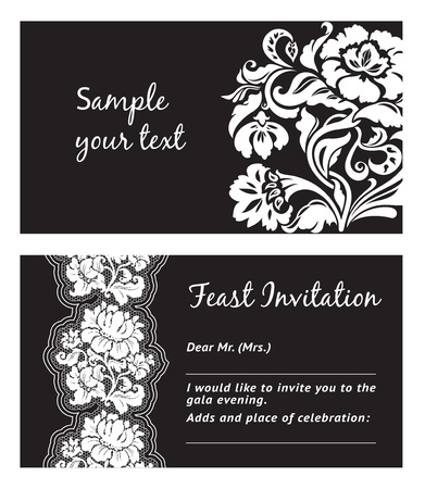 Flower lace, greeting card, space for your text Vector