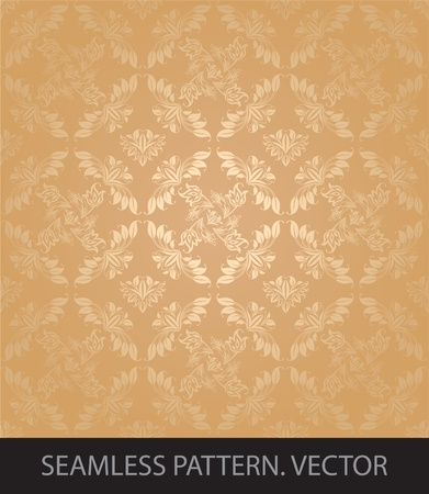 Seamless patterns, gold Vector