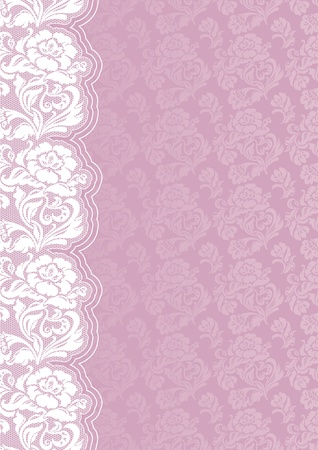 Flower background with lace Stock Vector - 11005090