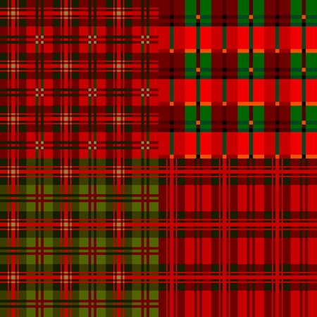 Set plaid patterns, tartan Vector