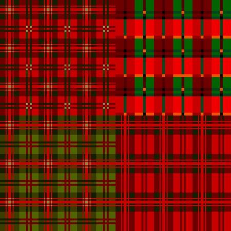 Set plaid patterns, tartan Stock Vector - 11112074