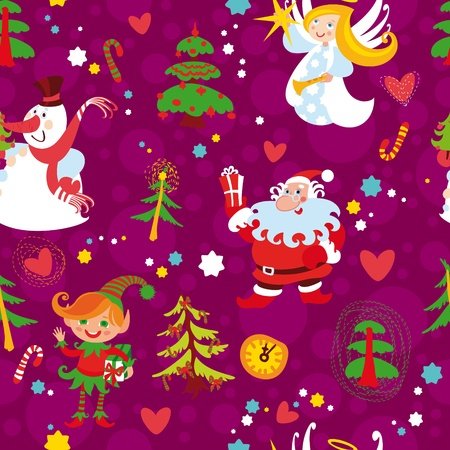Christmas seamless wallpaper pattern, New Years background(76).jpg Vector