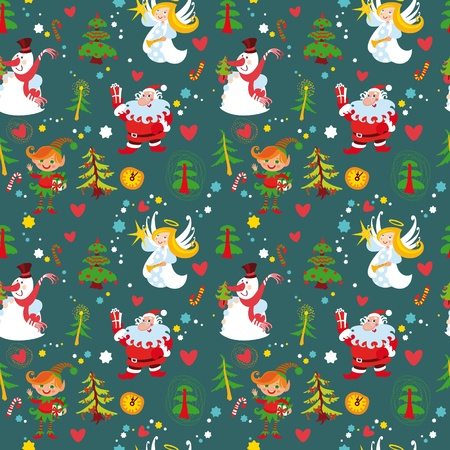 New Year's background, Christmas seamless wallpaper pattern(76).jpg Vector