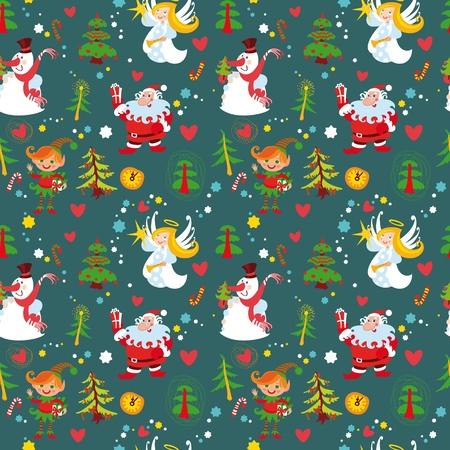 New Year's background, Christmas seamless wallpaper pattern(76).jpg Stock Vector - 11112077