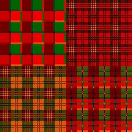 tartan plaid: Set tartan, plaid patterns, fabric textile