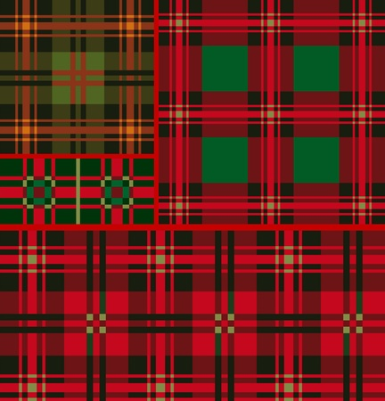 Set tartan, plaid patterns Vector