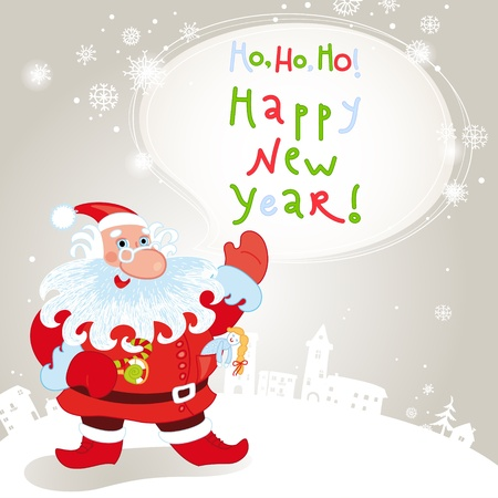10eps: Santa claus greeting card 10eps