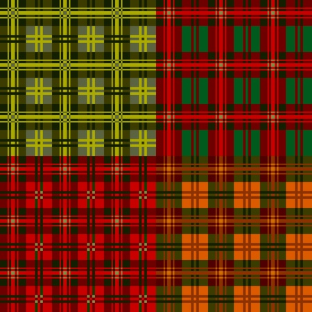 Set plaid patterns, tartan, vector designvel ement Vector
