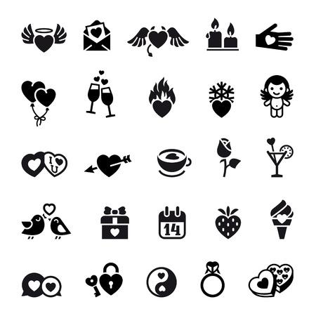 corazon roto: Set San Valent�n objetos cotidianos Vectores