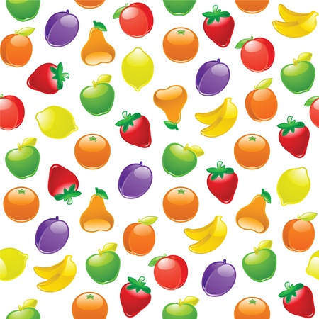 Fruit to background, seamless pattern Vector