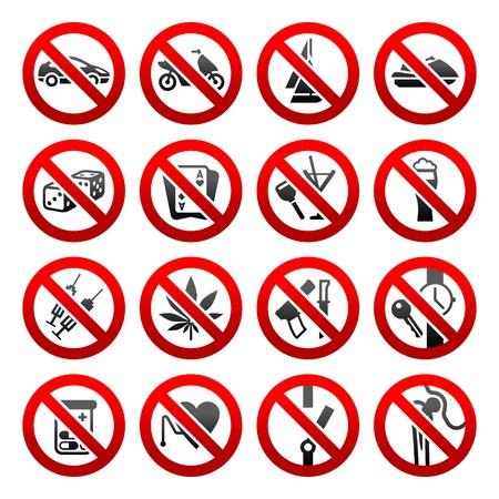 prohibido: Iconos conjunto prohibidos los s�mbolos
