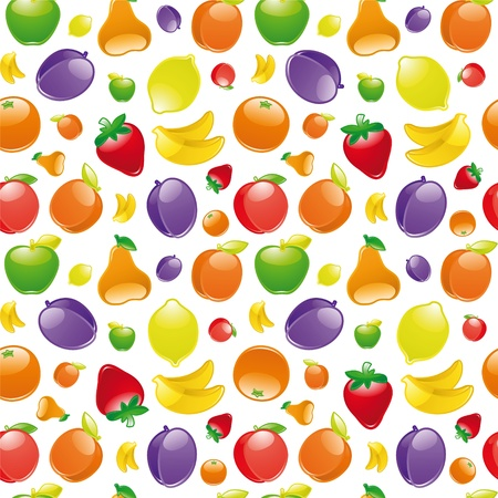 Fruit to background. Seamless pattern Vector