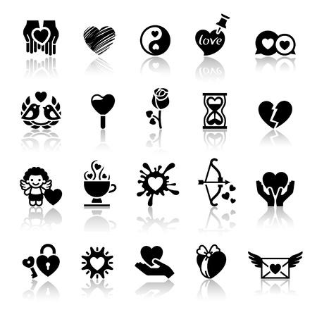 Set valentine's day icons, love romantic symbols Stock Vector - 11996341