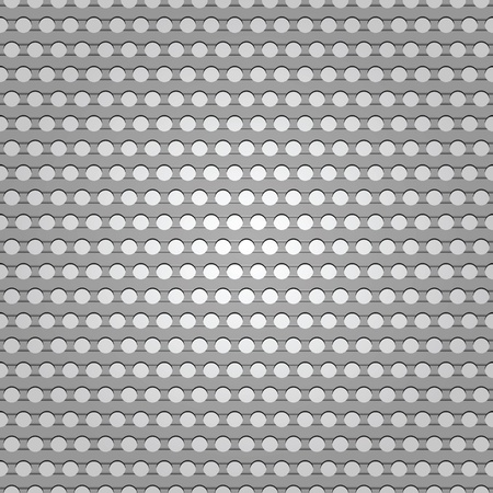 Seamless metal surface, background perforated sheet Illustration